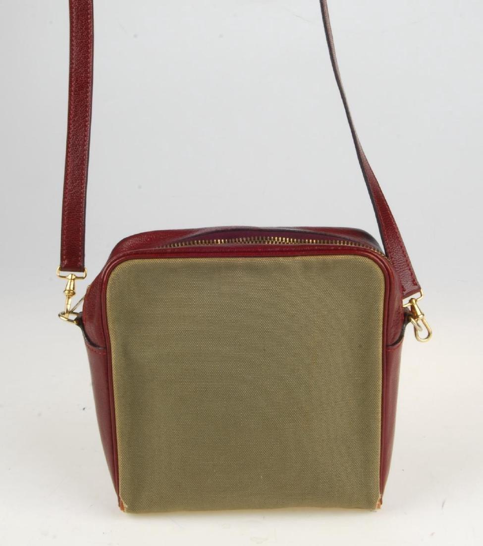 HERMÈS - a small handbag. Crafted from khaki canvas - 2