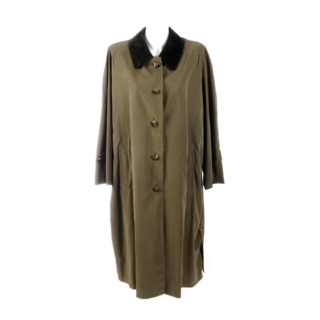 HERMÈS - a trench coat. Designed with a contrasting