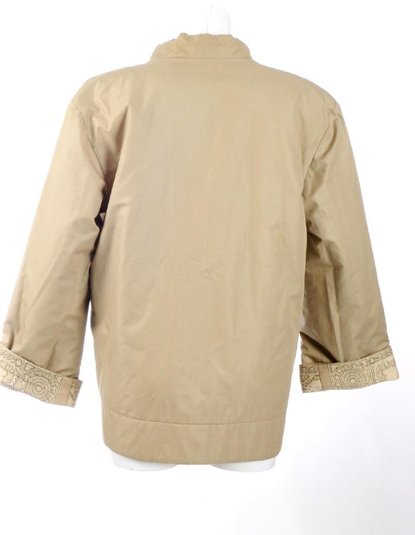 HERMÈS - a reversible silk coat. One side featuring a - 6