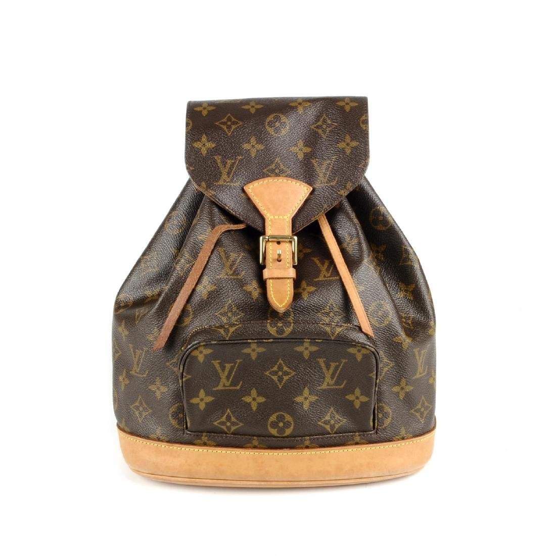 LOUIS VUITTON - a Monogram Montsouris MM backpack.