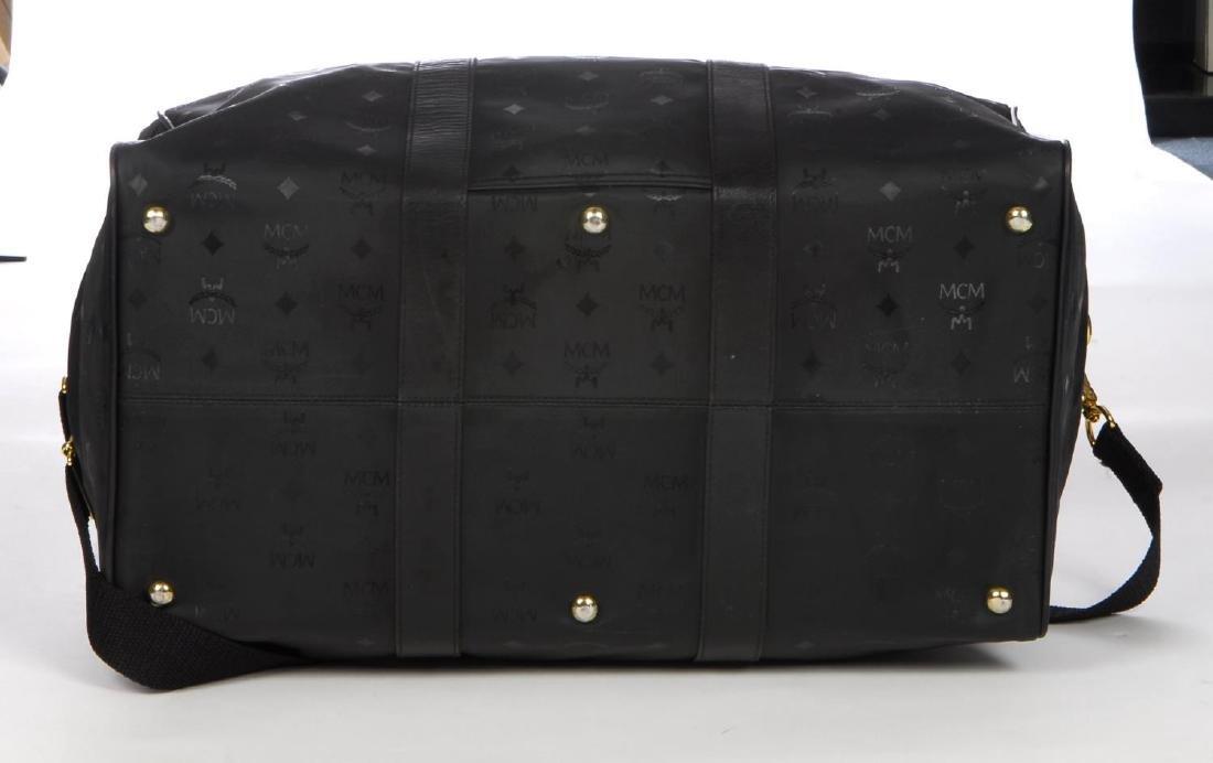 MCM - a black nylon Dieter Monogram holdall. Designed - 5