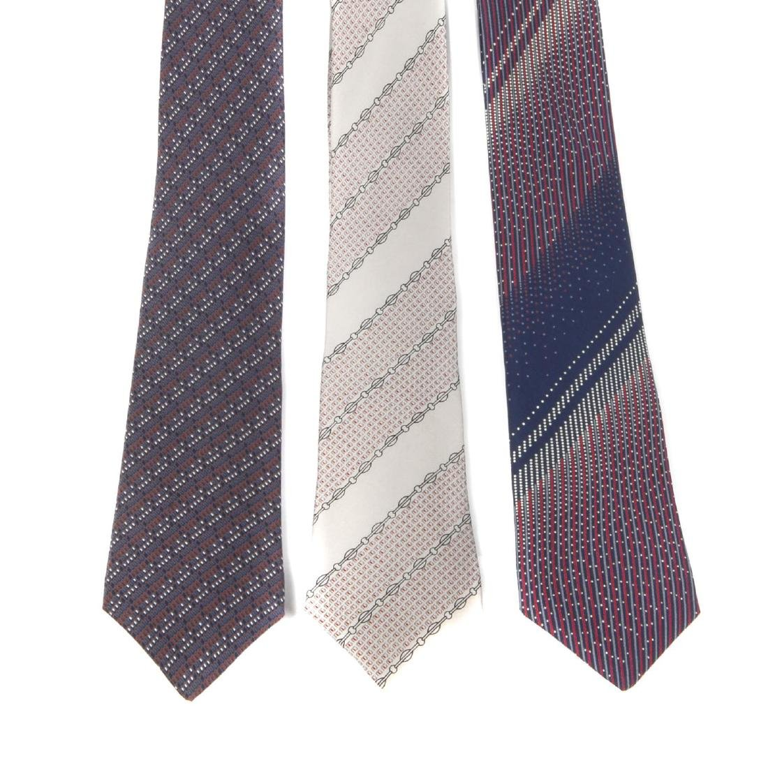 PIERRE BALMAIN - six ties. To include two blue ties, a