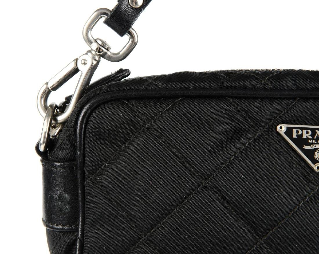 PRADA - a small nylon quilted camera handbag. Designed - 3