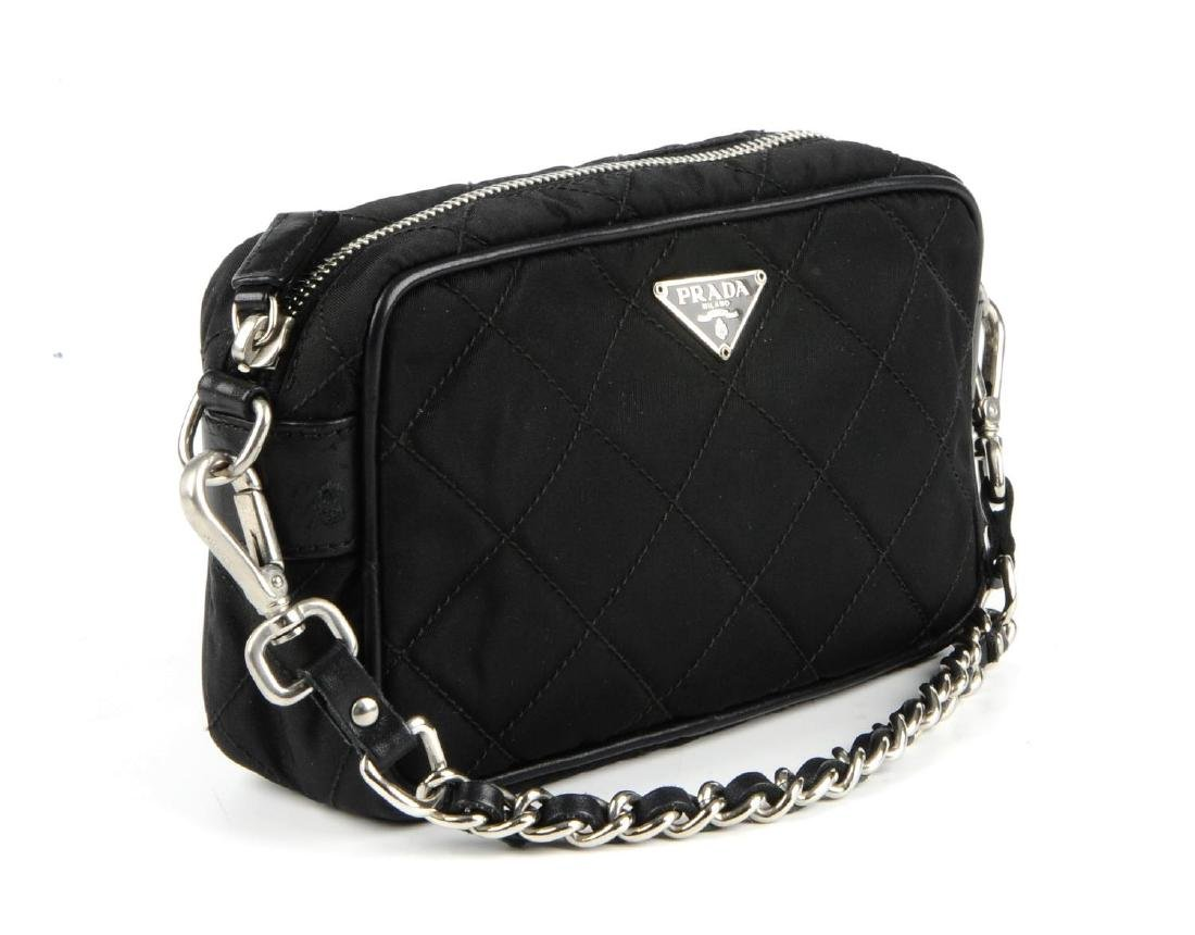 PRADA - a small nylon quilted camera handbag. Designed - 4