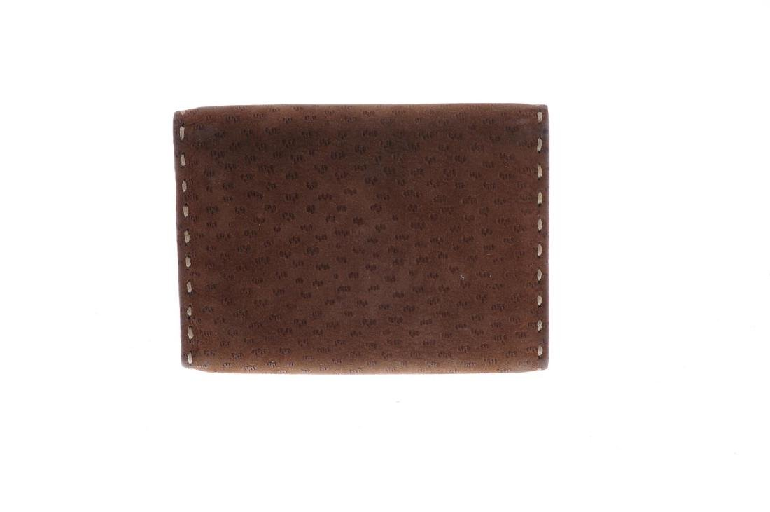 PRADA - a brown suede leather wallet. Featuring a snap - 2