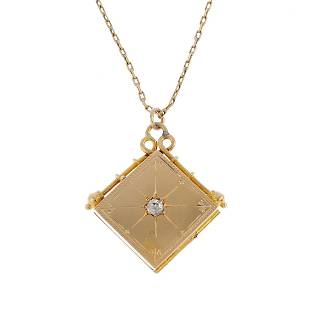 An early 20th century 18ct gold diamond locket Of