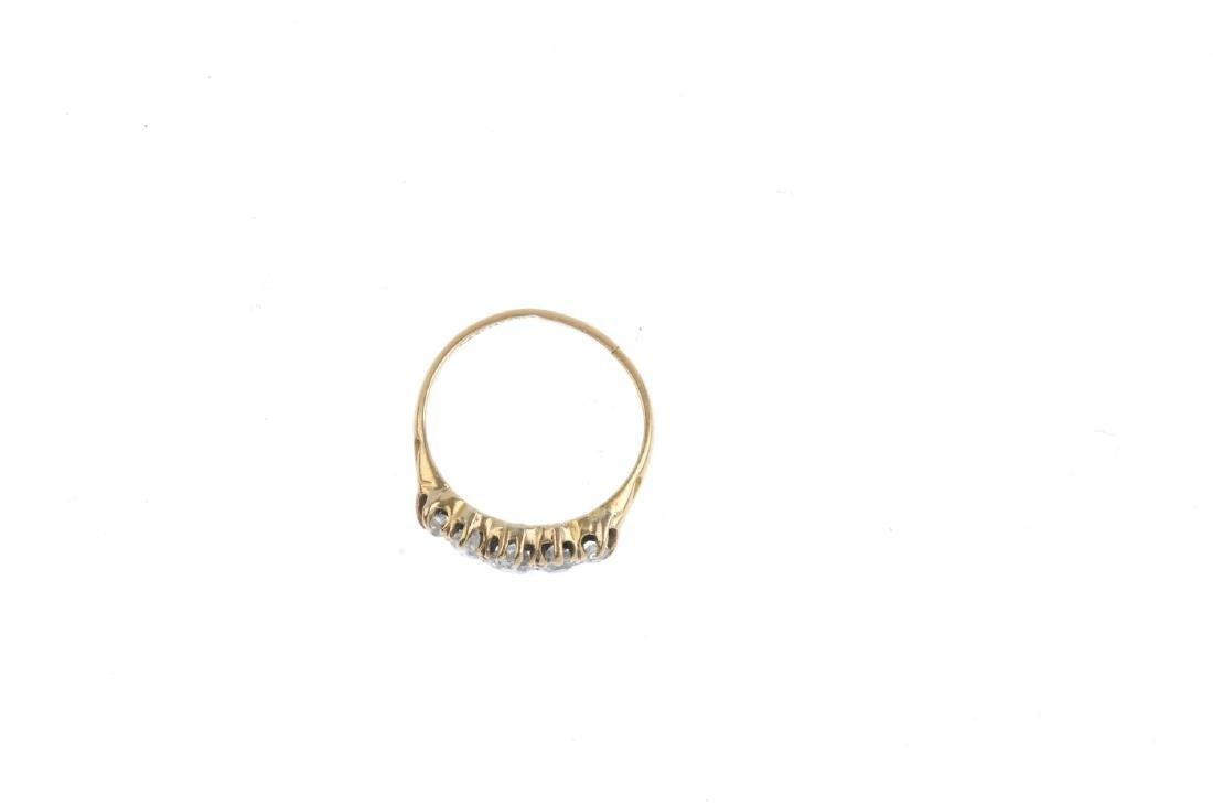 An Edwardian 18ct gold diamond five-stone ring. - 2