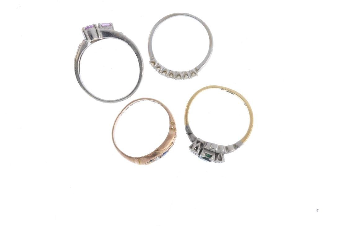 Four gem-set rings. To include an early 20th century - 2