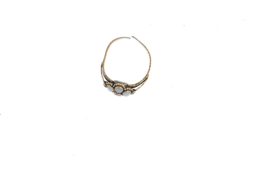 Two gem-set rings. To include a mid Victorian memorial - 2