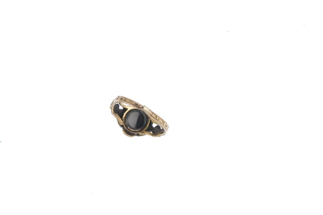 Two gem-set rings. To include a mid Victorian memorial - 4