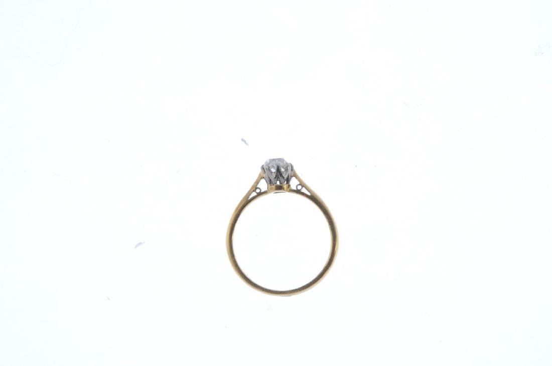 Two diamond and sapphire rings. To include an 18ct gold - 3