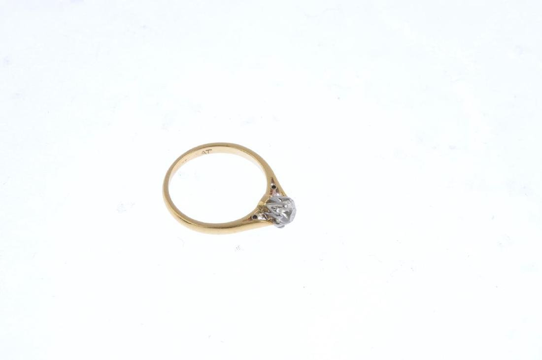 Two diamond and sapphire rings. To include an 18ct gold - 4