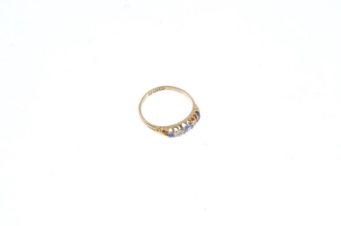 Two diamond and sapphire rings. To include an 18ct gold - 5