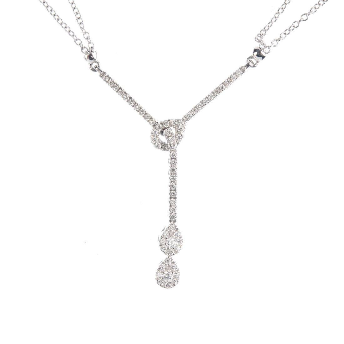 MAPPIN & WEBB - an 18ct gold diamond necklace. The