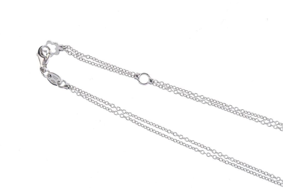MAPPIN & WEBB - an 18ct gold diamond necklace. The - 3