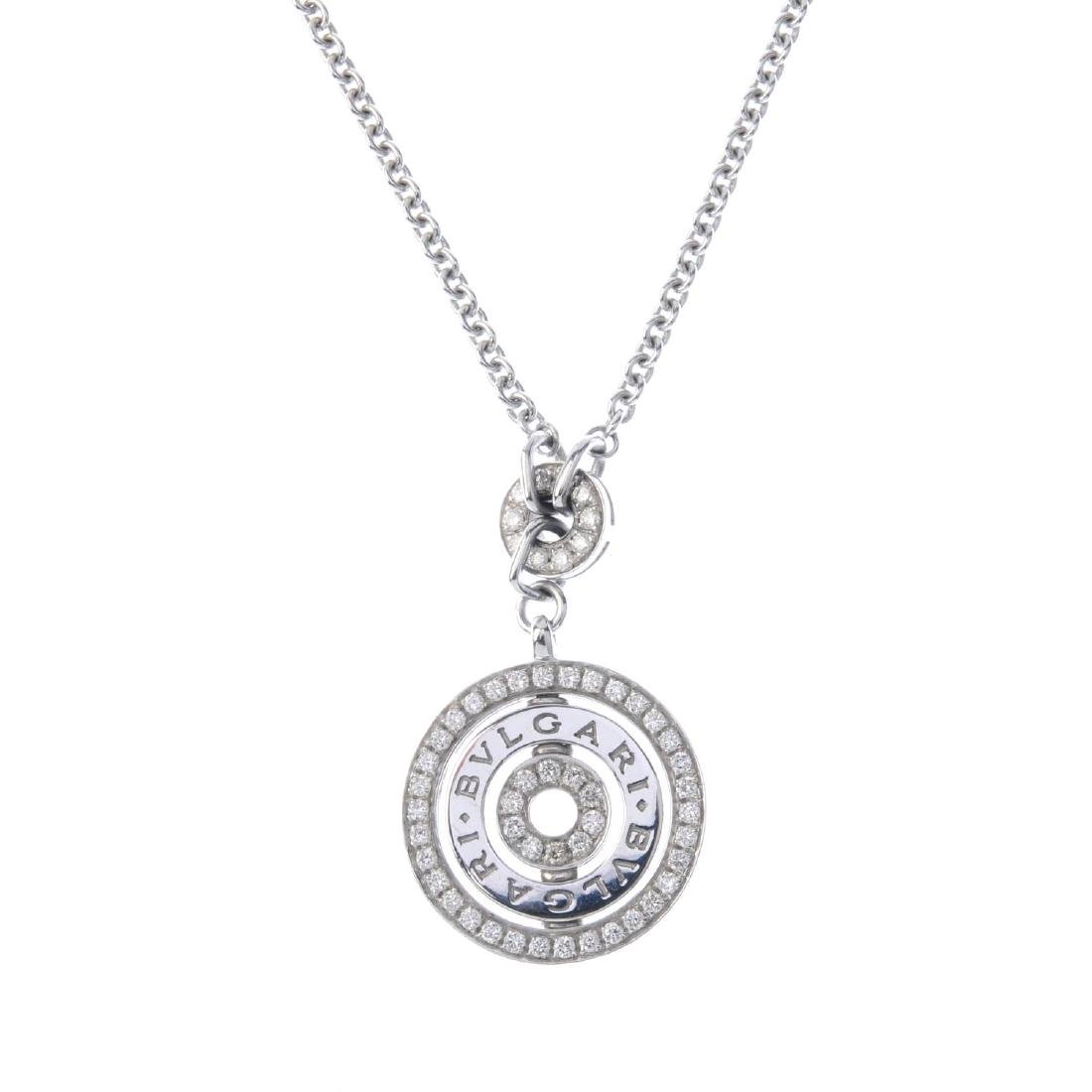 BULGARI - a diamond 'Cerchi' pendant. Designed as an