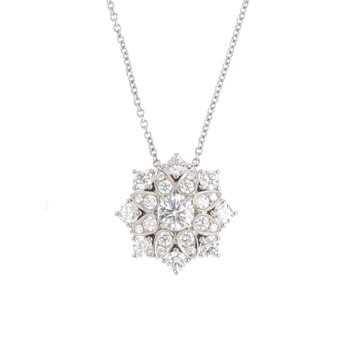 HARRY WINSTON - a platinum diamond 'Lotus Cluster'