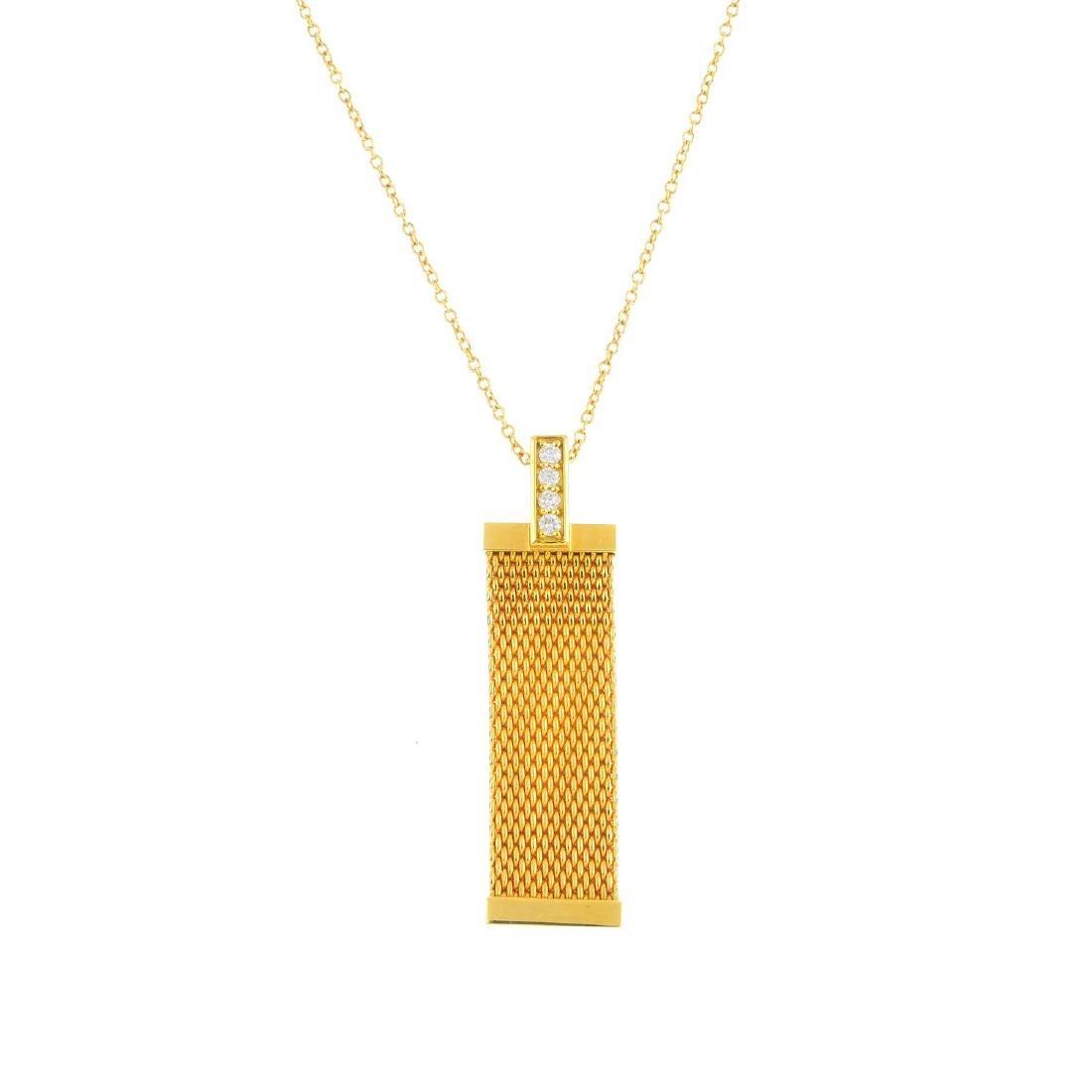 TIFFANY & CO. - a diamond 'Somerset' pendant. The