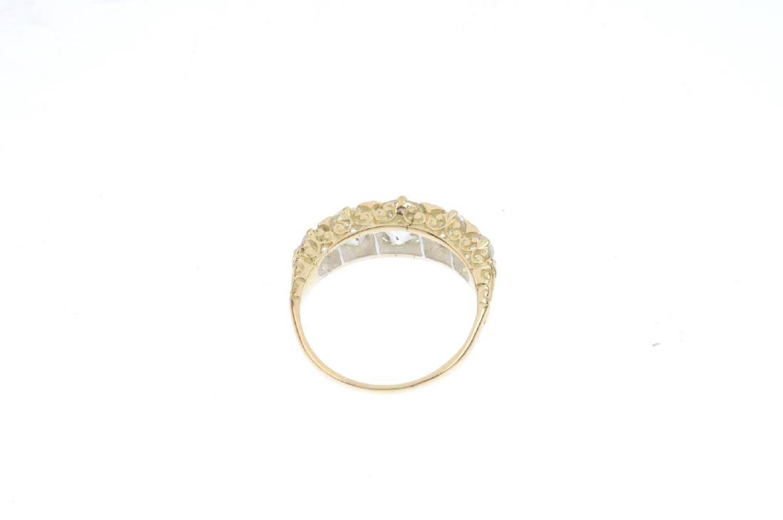 A diamond five-stone ring. Designed as an old-cut - 3
