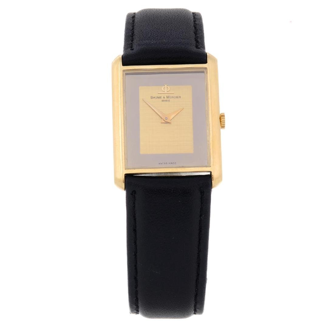BAUME & MERCIER - a gentleman's wrist watch. Yellow