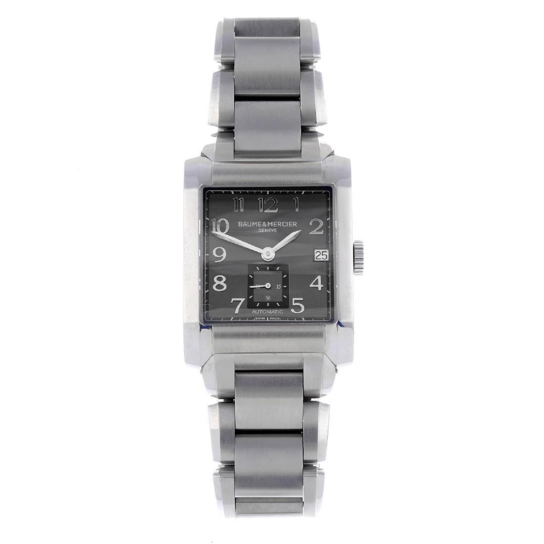 BAUME & MERCIER - a gentleman's Hampton bracelet watch.