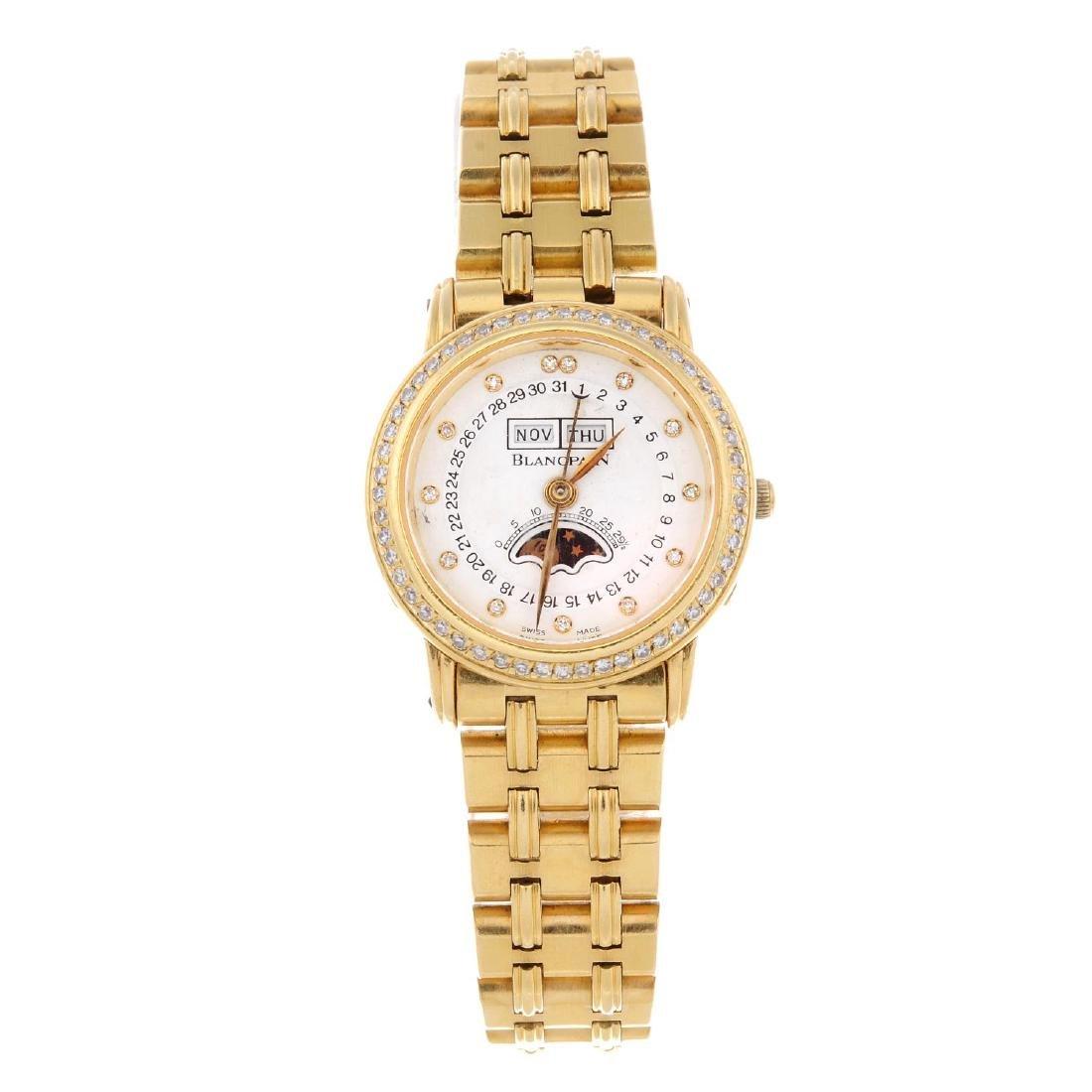 BLANCPAIN - a lady's bracelet watch. 18ct yellow gold