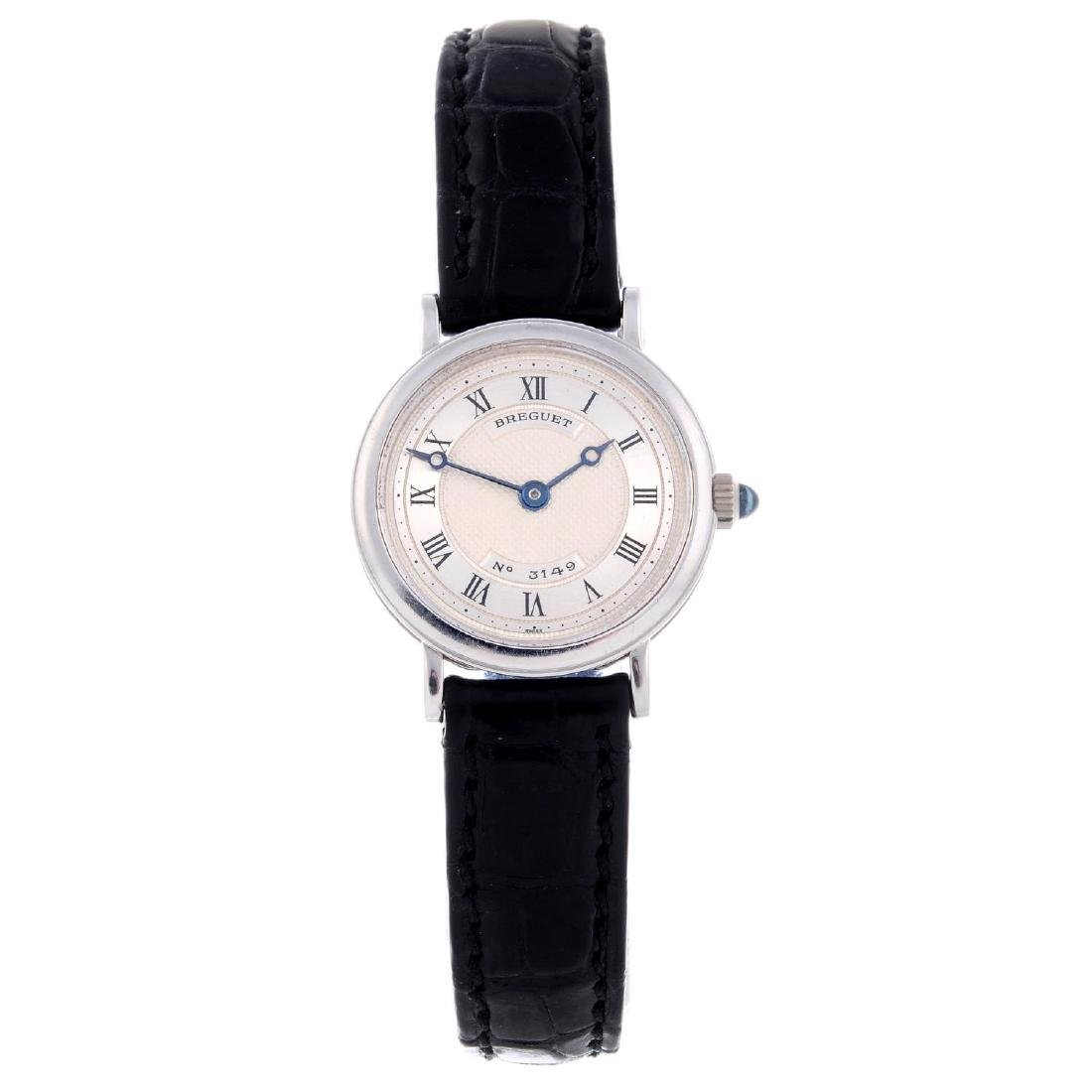 BREGUET - a lady's wrist watch. 18ct white gold case.
