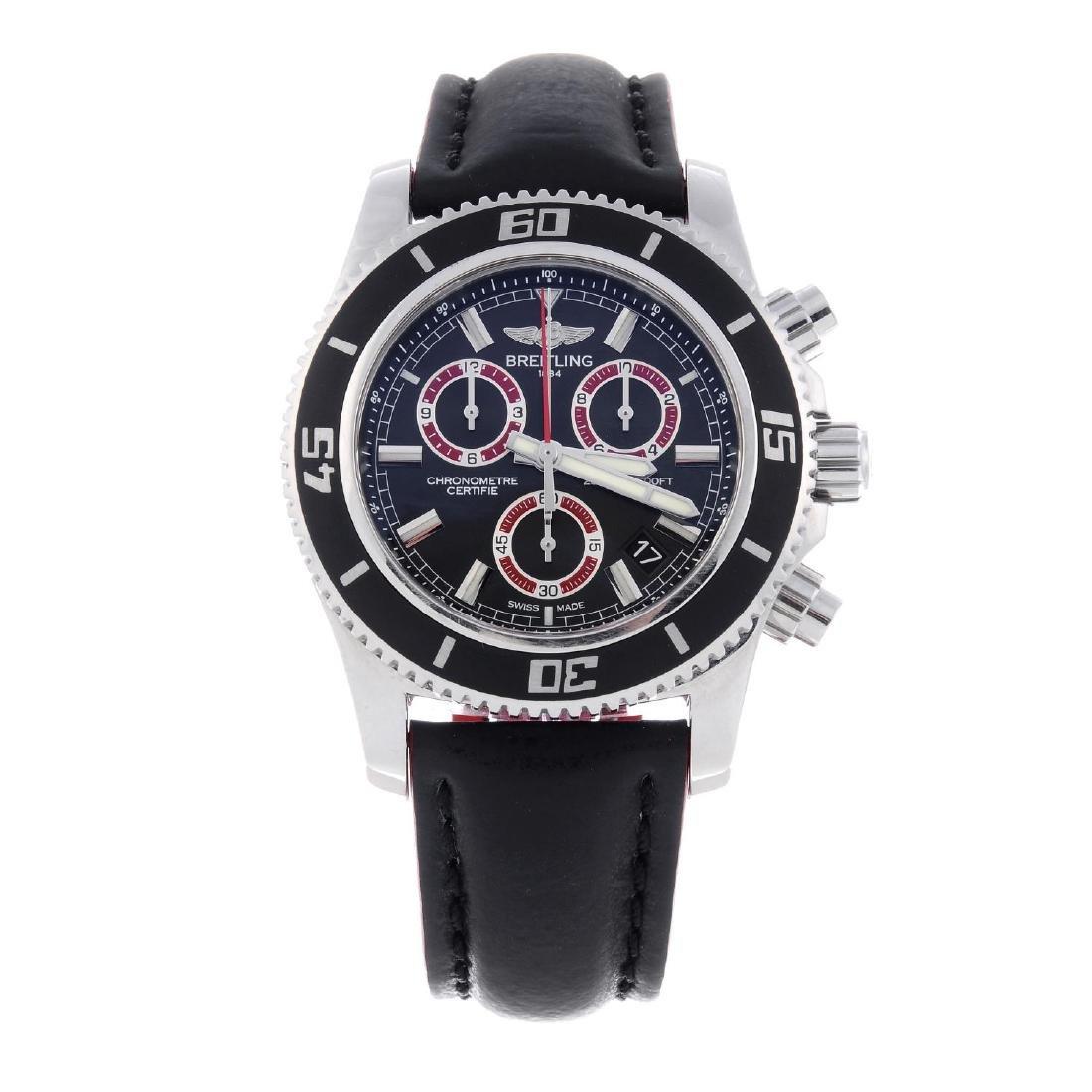 BREITLING - a gentleman's SuperOcean chronograph wrist