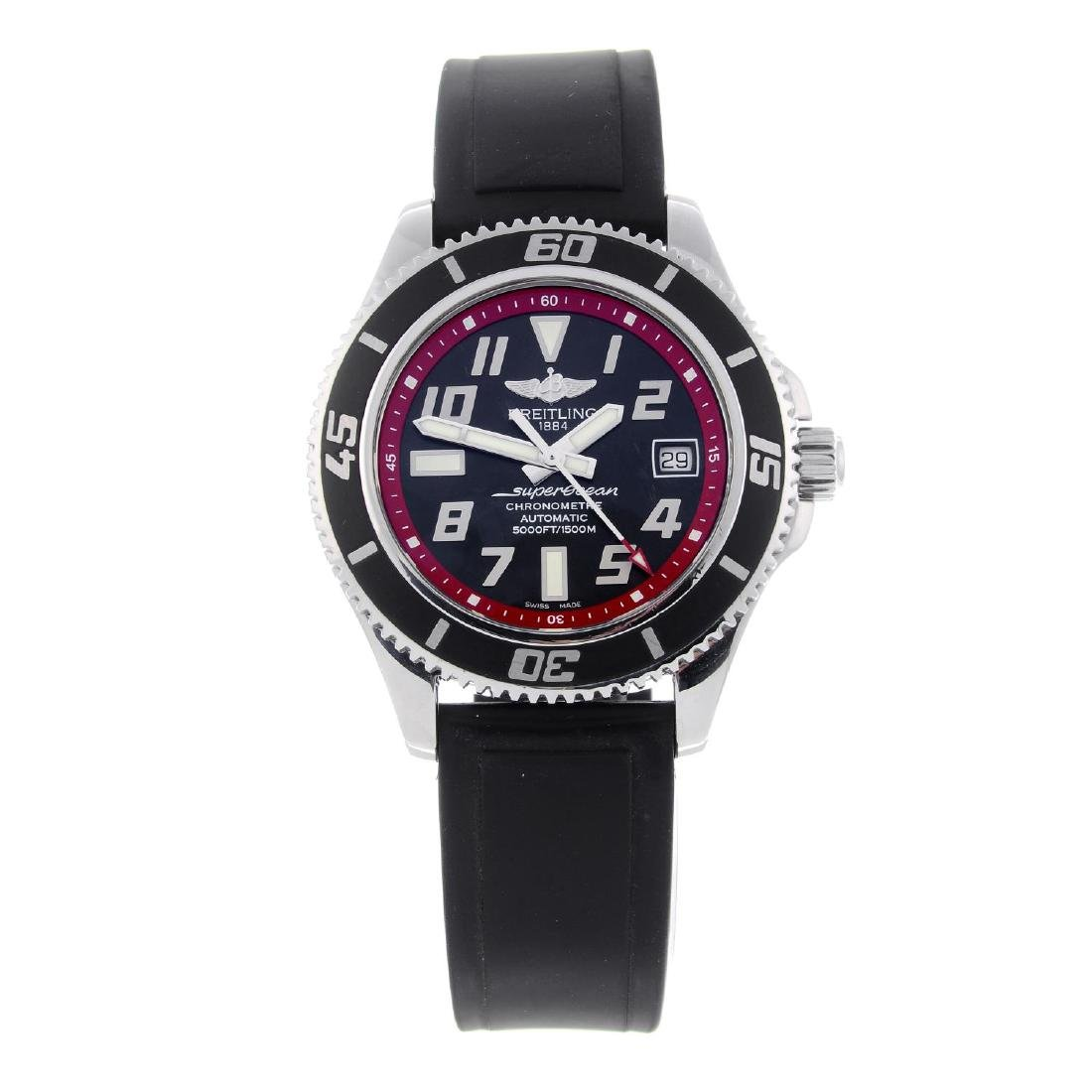 BREITLING - a gentleman's SuperOcean wrist watch.