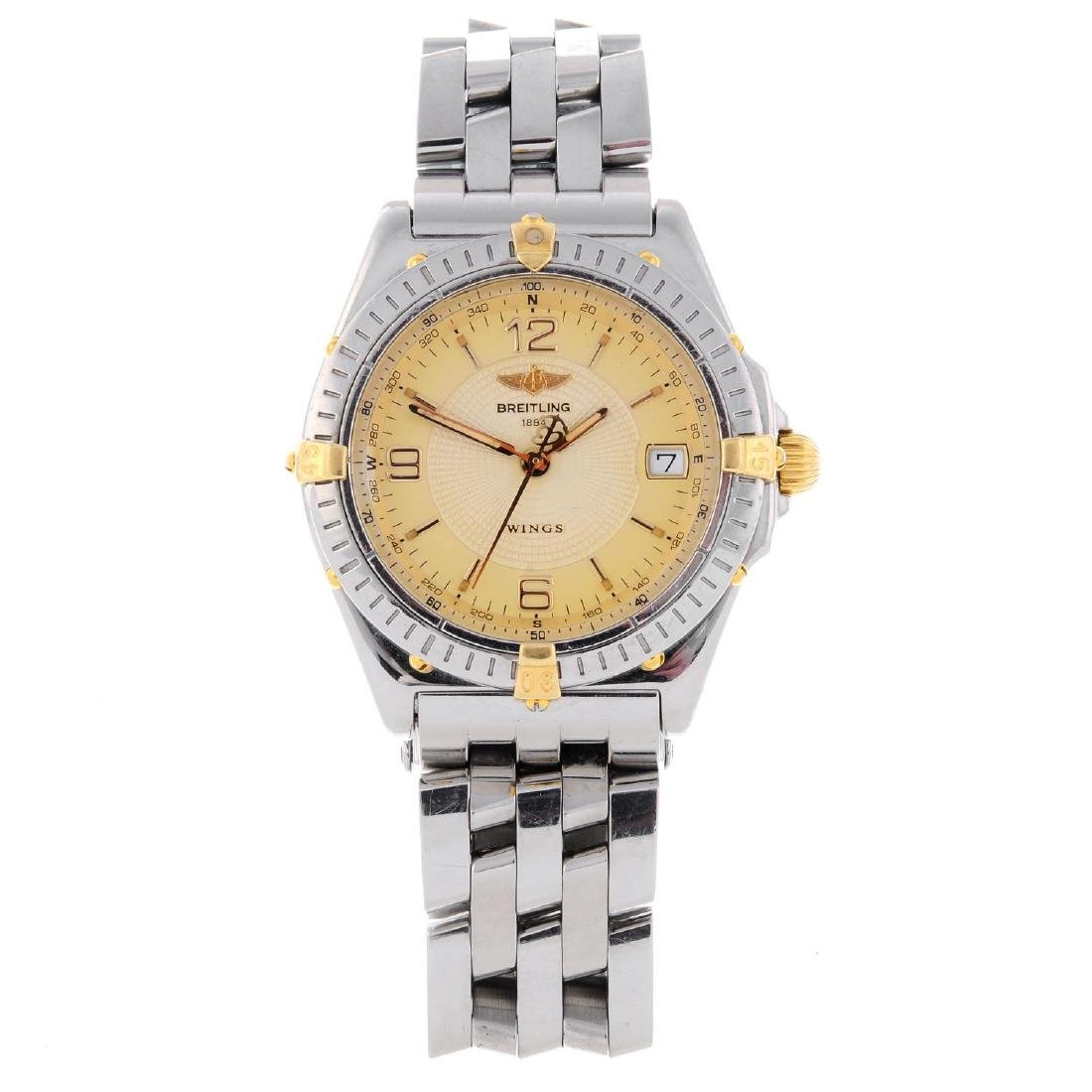 BREITLING - a gentleman's Wings bracelet watch.