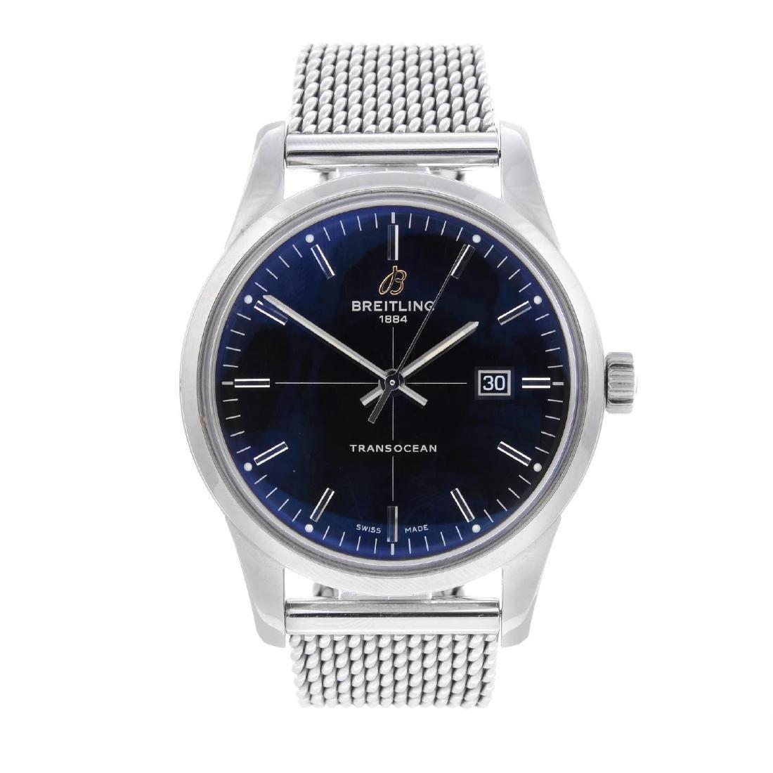 BREITLING - a gentleman's Transocean bracelet watch.