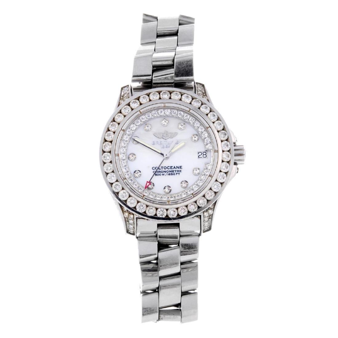 BREITLING - a lady's Colt Oceane bracelet watch.