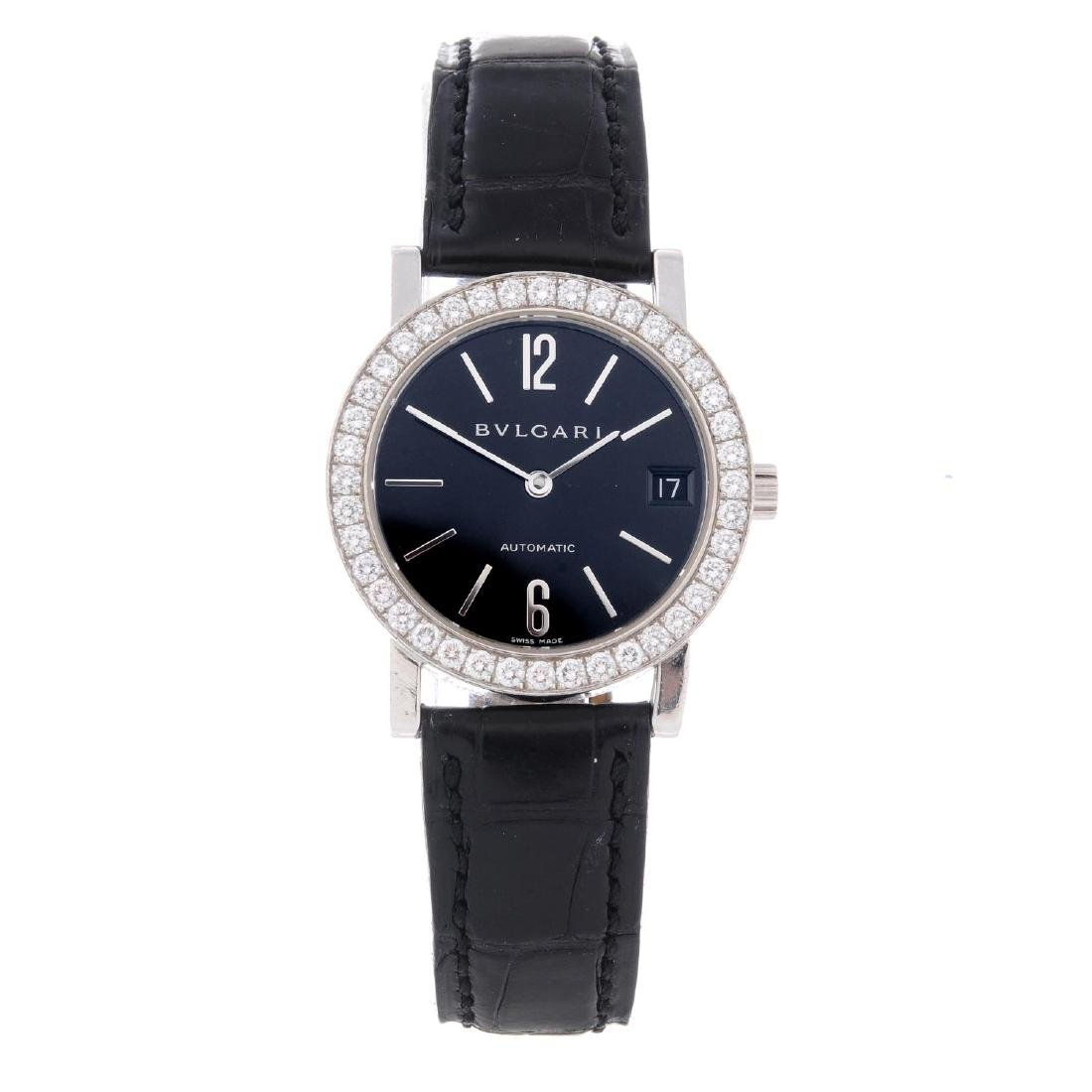 BULGARI - a mid-size wrist watch. 18ct white gold case
