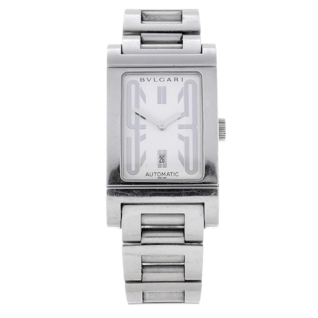 BULGARI - a gentleman's Rettangolo bracelet watch.