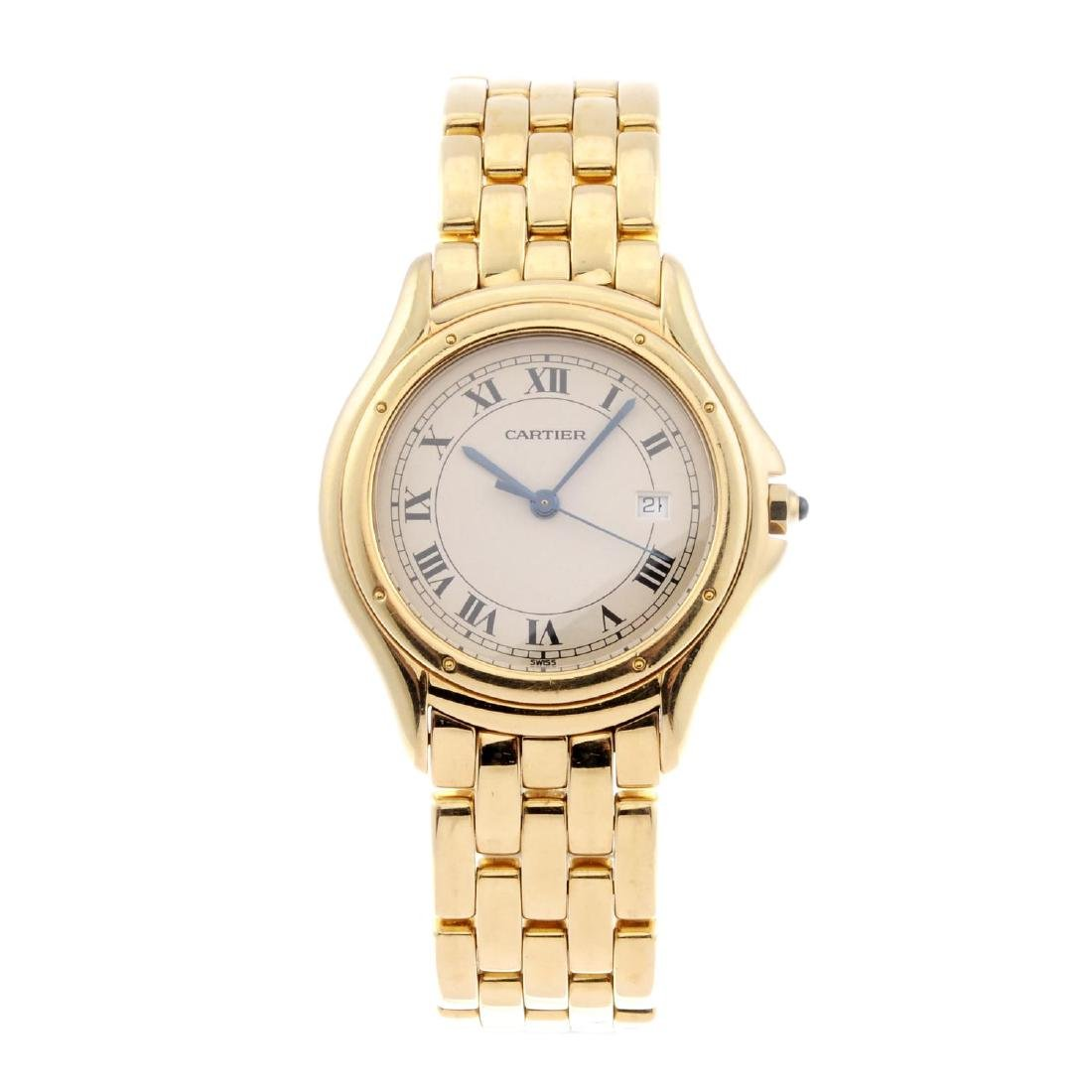 CARTIER - a Cougar bracelet watch. 18ct yellow gold