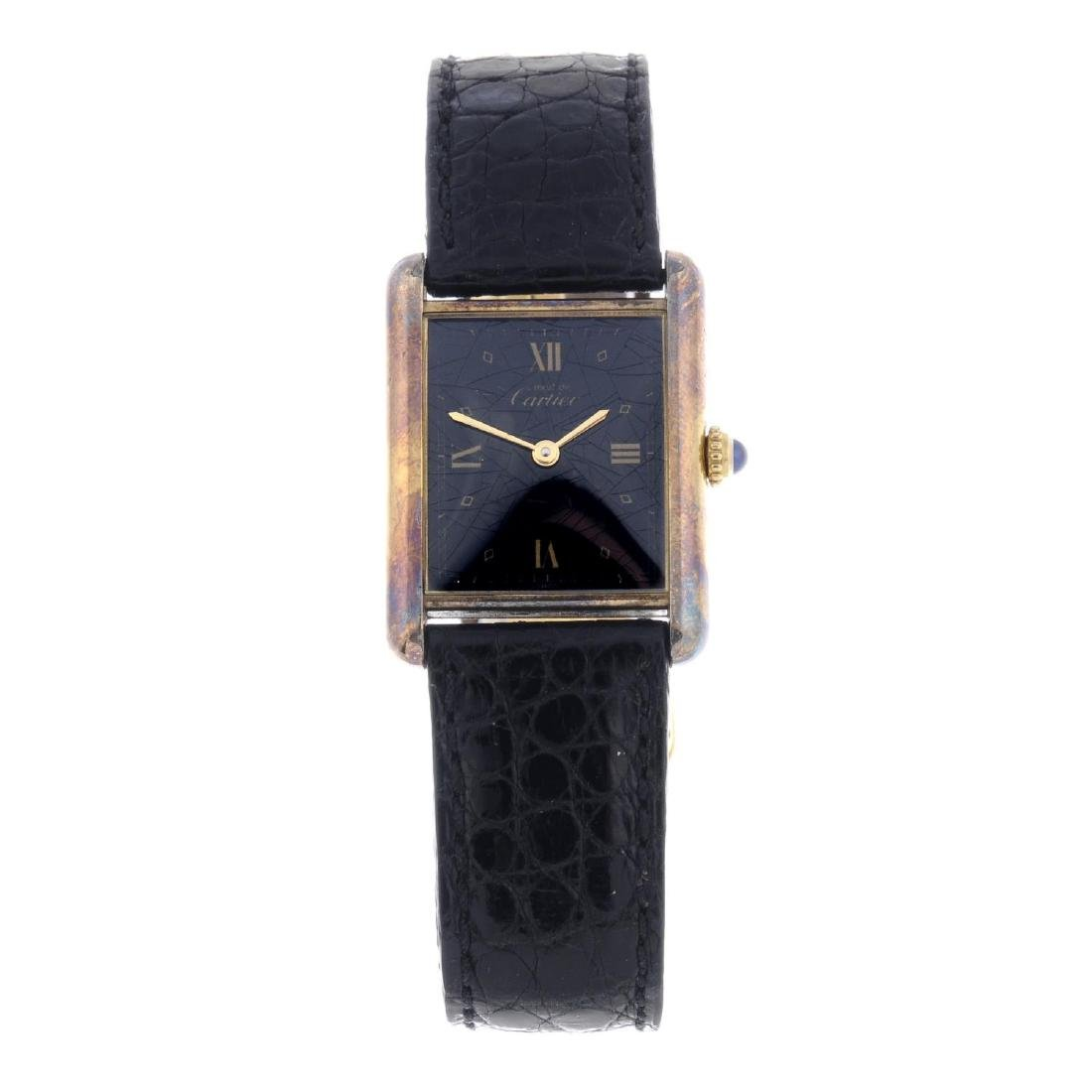 CARTIER - a Must De Cartier Vermeil wrist watch. Gold