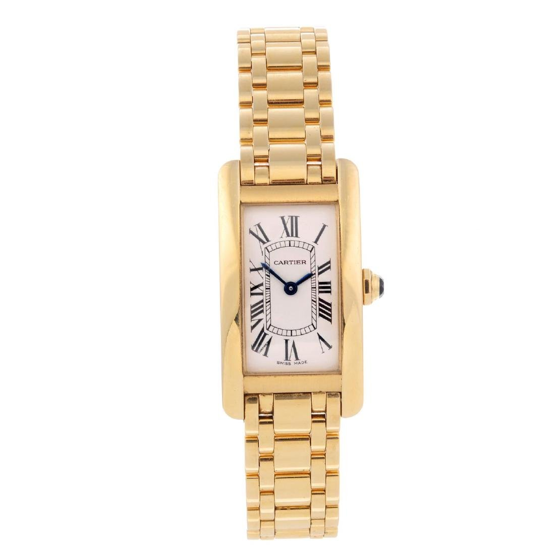 CARTIER - a Tank Americaine bracelet watch. 18ct yellow