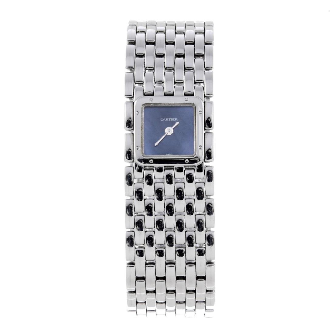 CARTIER - a Panthere Ruban bracelet watch. Stainless
