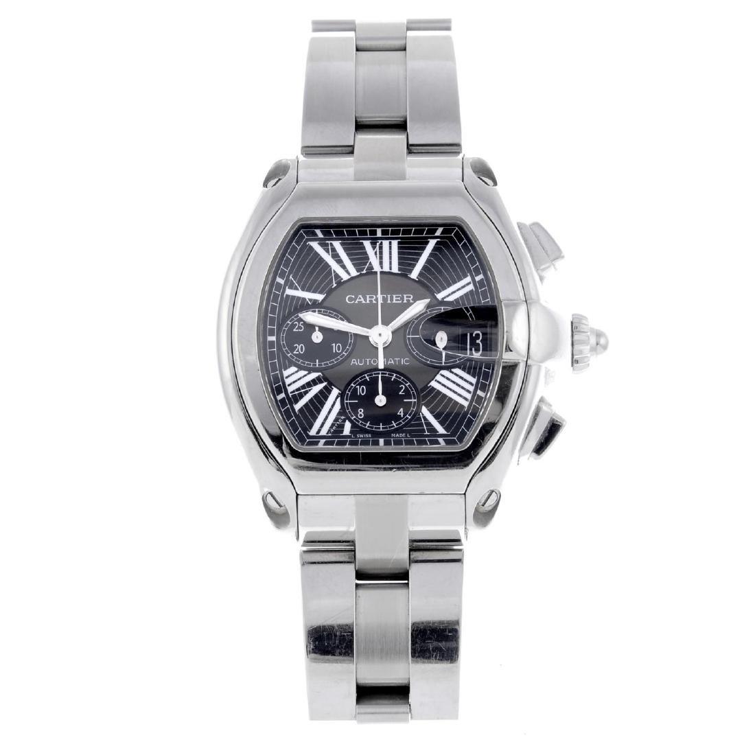 CARTIER - a Roaster chronograph bracelet watch.