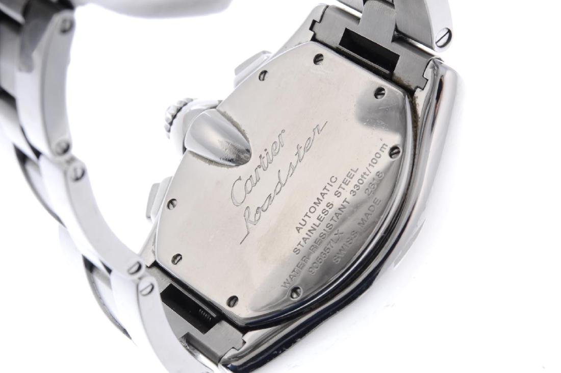 CARTIER - a Roaster chronograph bracelet watch. - 3