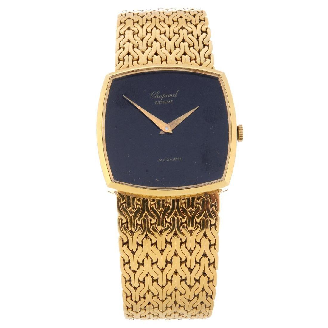 CHOPARD - a gentleman's bracelet watch. 18ct yellow