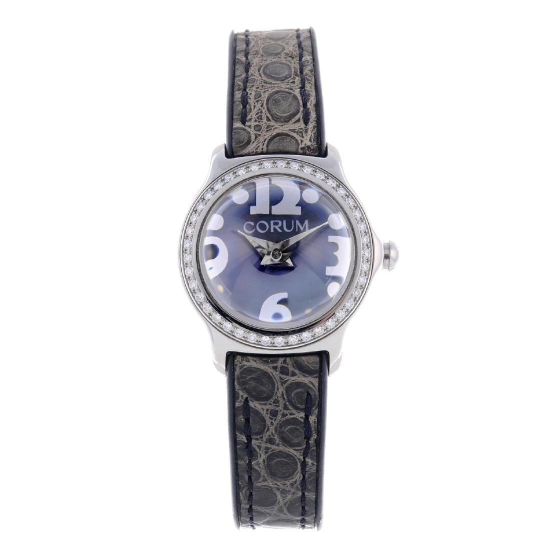 CORUM - a lady's Bubble wrist watch. Stainless steel