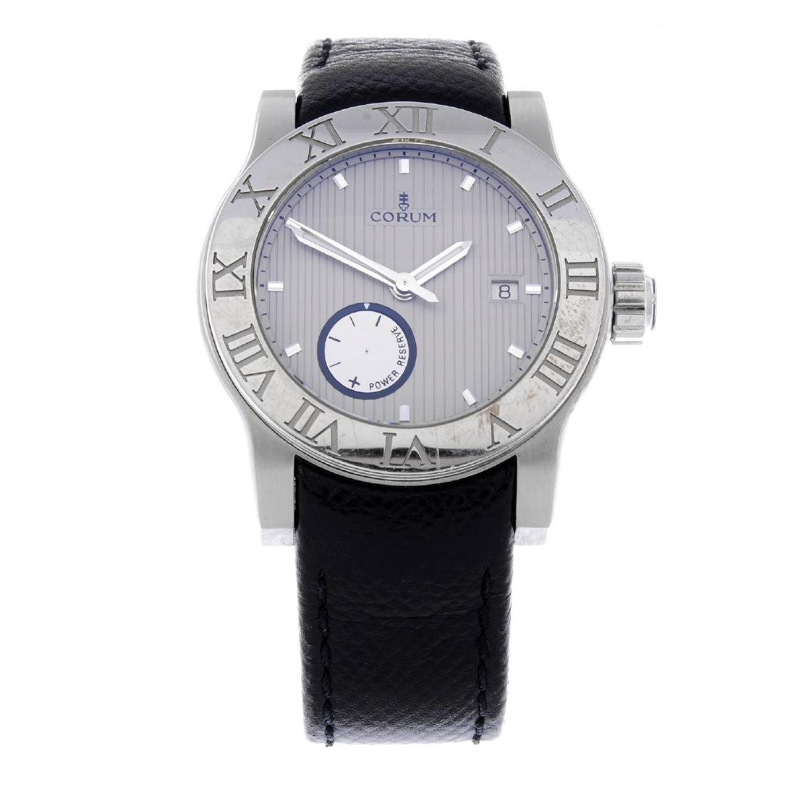 CORUM - a gentleman's Romulus wrist watch. Stainless