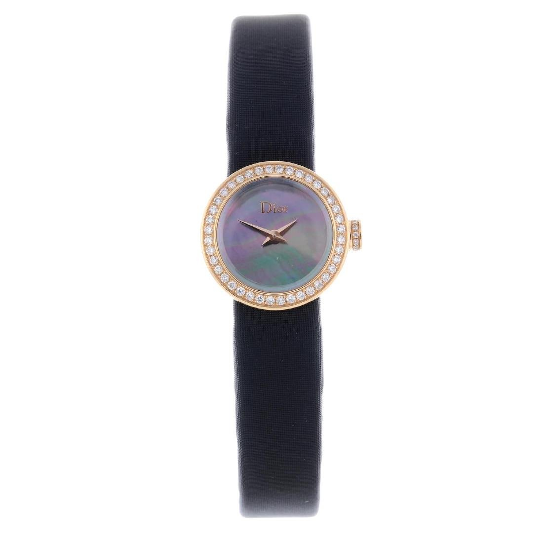 DIOR - a lady's wrist watch. 18ct rose gold case with