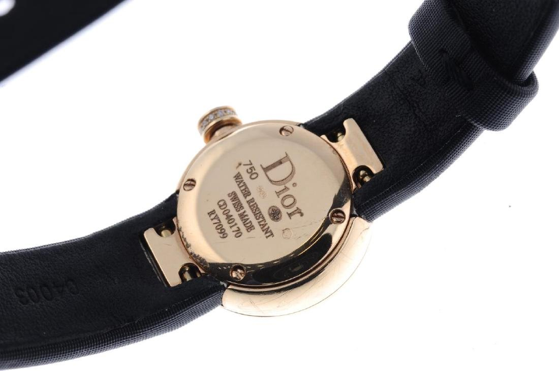 DIOR - a lady's wrist watch. 18ct rose gold case with - 3