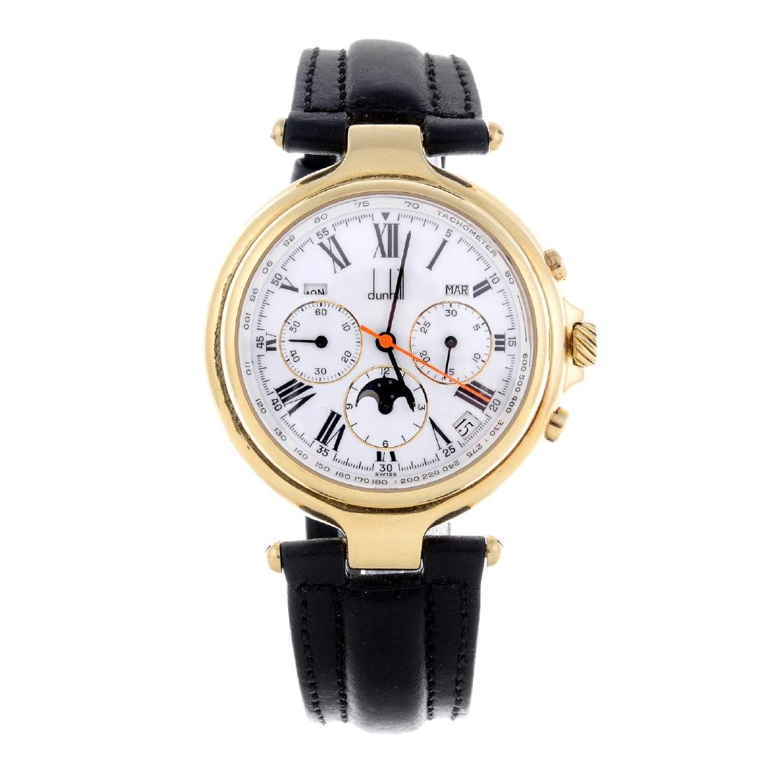 DUNHILL - a gentleman's chronograph wrist watch. 18ct