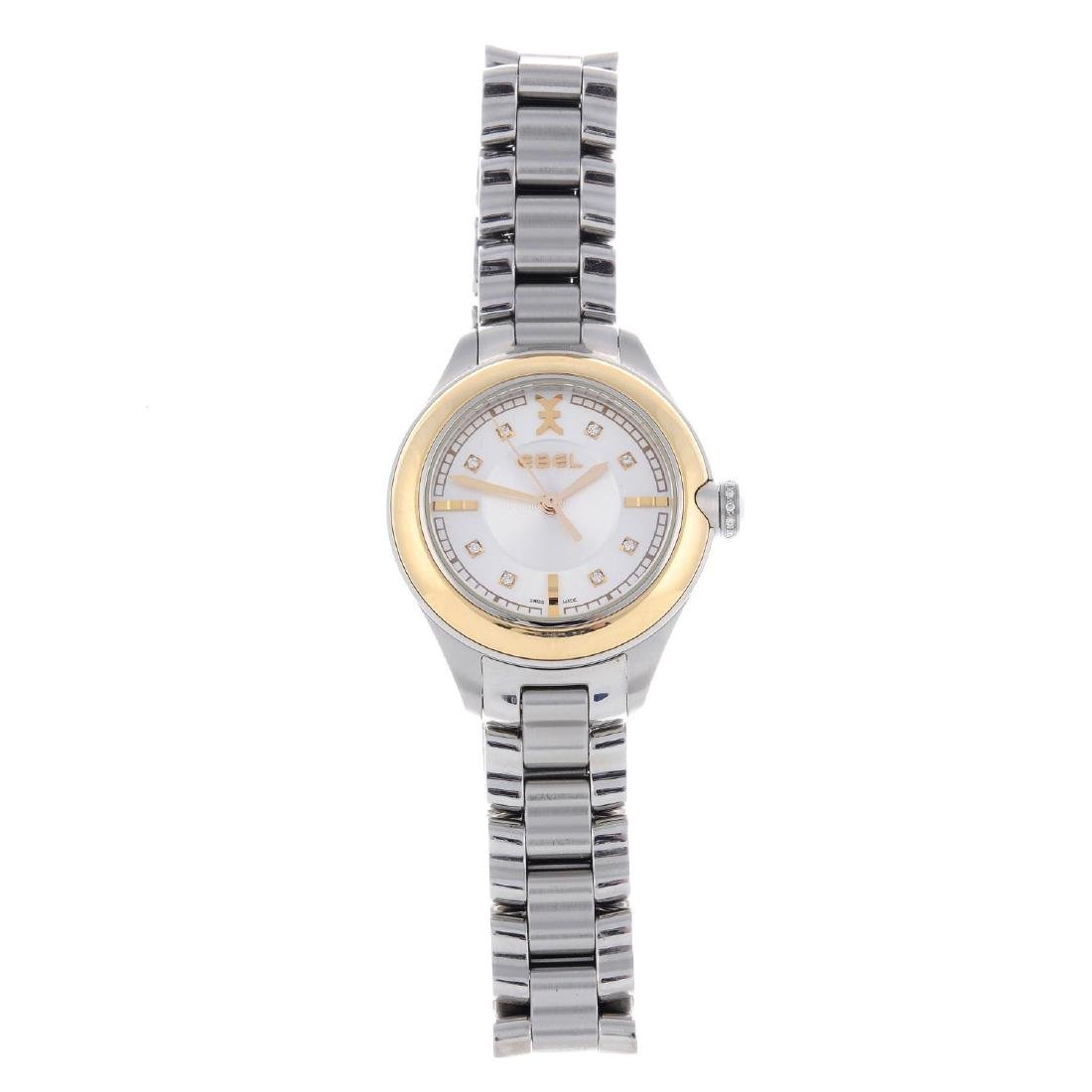 EBEL - a lady's bracelet watch. Stainless steel case