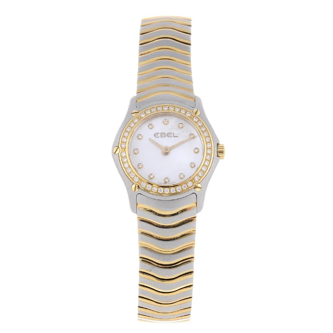 EBEL - a lady's Classic bracelet watch. Stainless steel