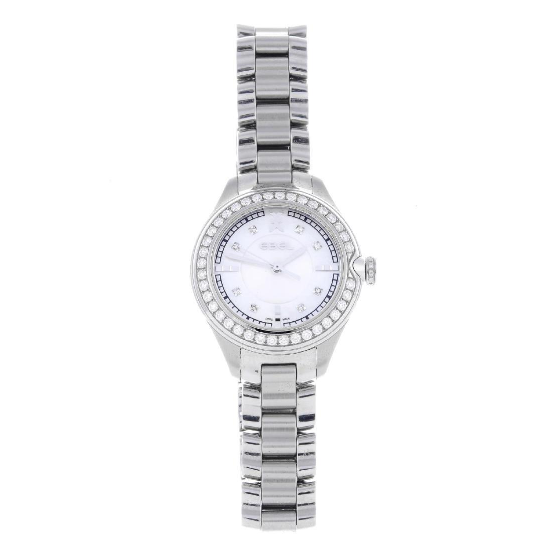 EBEL - a lady's Onde bracelet watch. Stainless steel