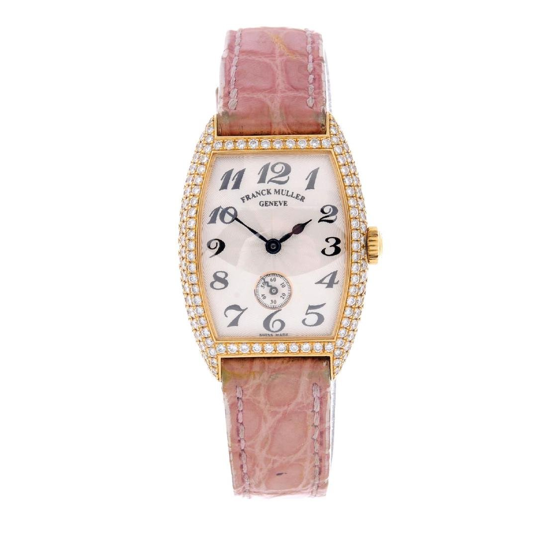 FRANCK MULLER - a lady's Cintree Curvex wrist watch.